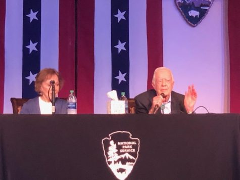 Former First Lady Rosalynn Carter and former President Jimmy Carter