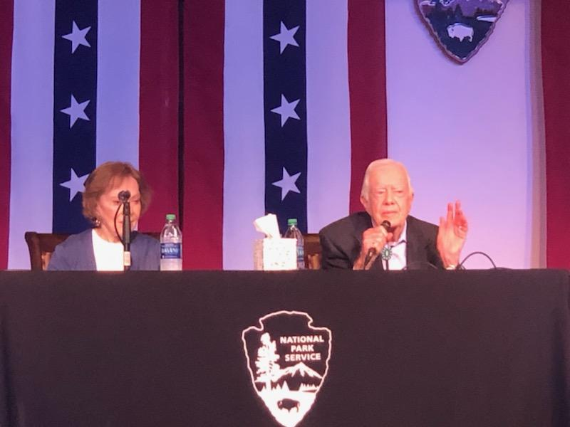 Former First Lady Rosalynn Carter and former President Jimmy Carter