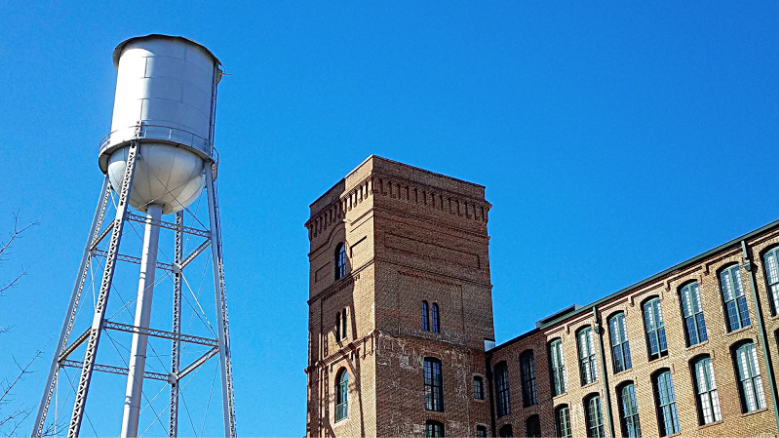 A water tower in Uptown Columbus. This one is practically a symbol of the city.