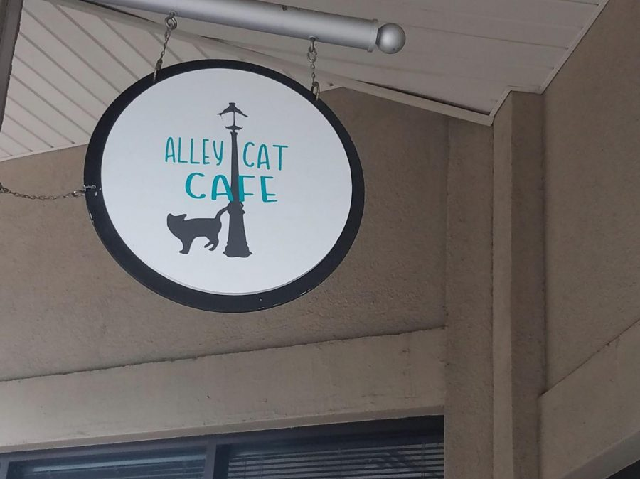 Pictured is the sign outside the cafe. Photo courtesy of Damaris Chavira.