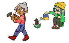 Animal Crossing: New Horizons allows more customization to the player character than ever before. Illustrations by Madi Steele.