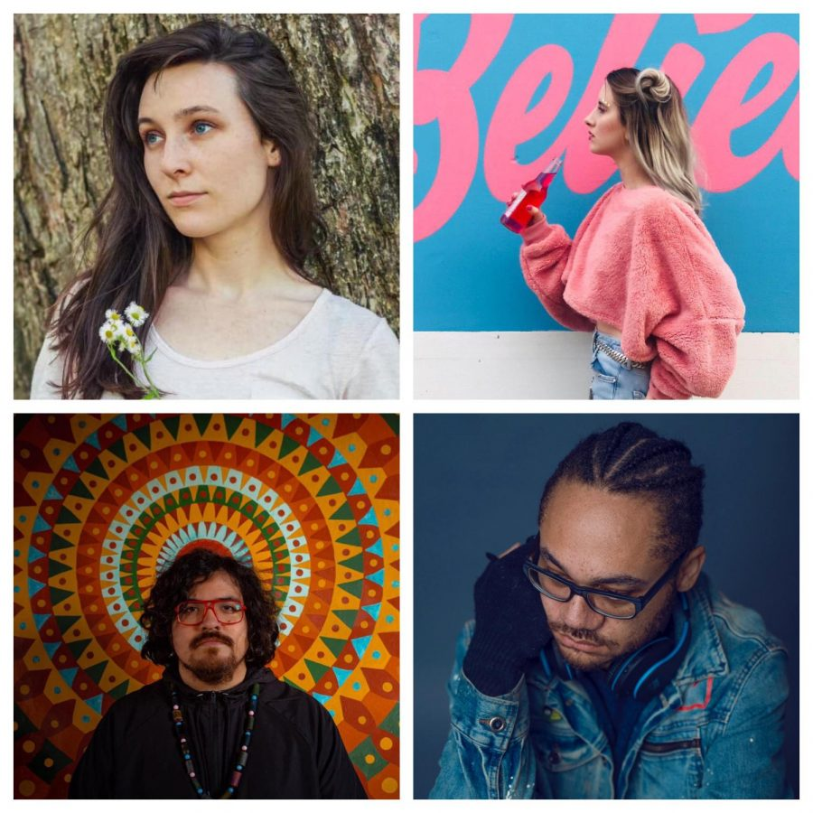 Top (left to right): Berkley Martin-Lynn, Jessica Saxon. Bottom (left to right): Charles Fowler, Sammie Saxon. All photos provided by their respective artist.