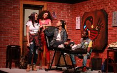 Talisha (Aleigha Burt), Margie (Melody Page), Annie ( KiKi Ellis), and  Antwoine (Robert Trammell). Photo by Melissa Areiza.
