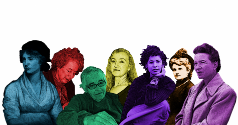 A collection of literary feminists through the ages. Photos edited by Jessica DeMarcbo Jacobson, arranged by Ashley Peterson. Photo of Rebecca Walker by David Fenton.