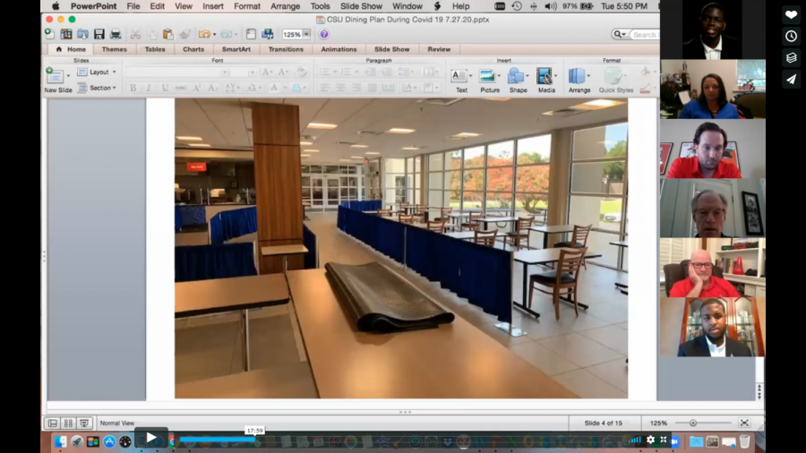 A screenshot from the SGA Zoom meeting.