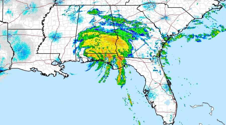 Hurricane Sally radar courtesy of the National Weather Service.