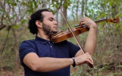 Samuel Abraham Vargas playing the violin. Media provided by Elena Kolbrek.